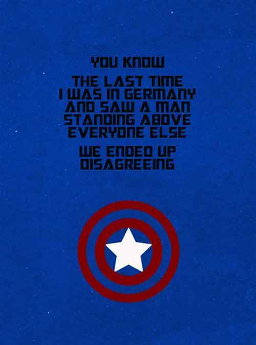 50+ Amazing Captain America Quotes, The First Avenger Ever