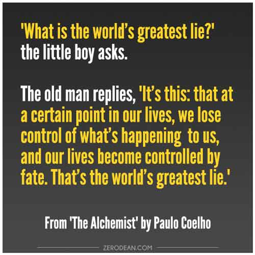 the alchemist love quotes