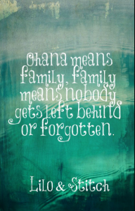 lilo stitch quote ohana means family