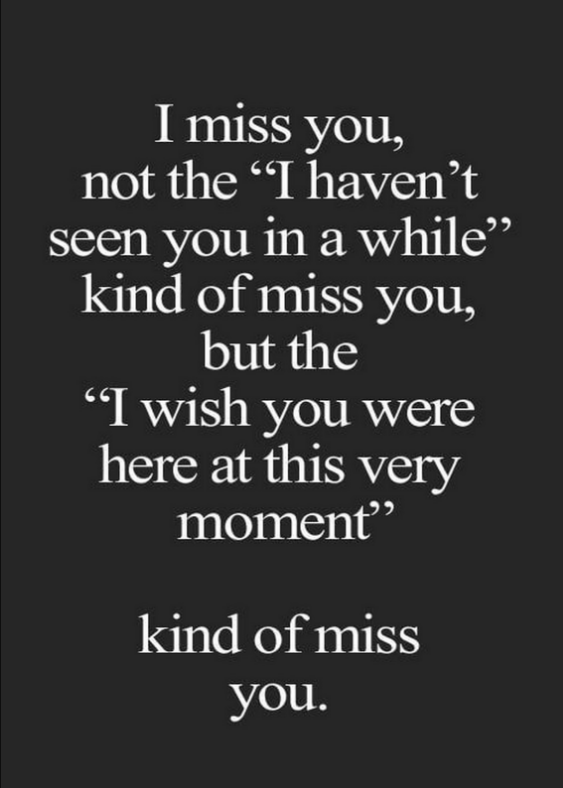 someone you miss them