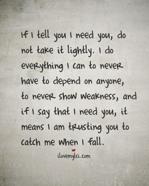 why i need you quotes