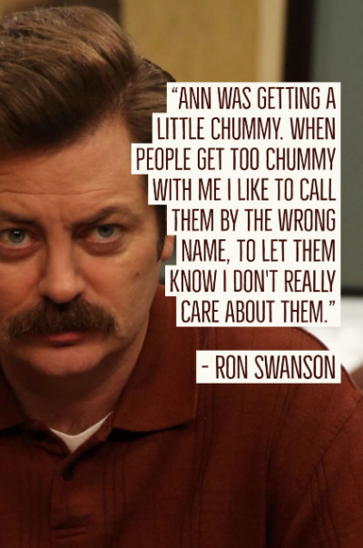 funny ron swanson quotes