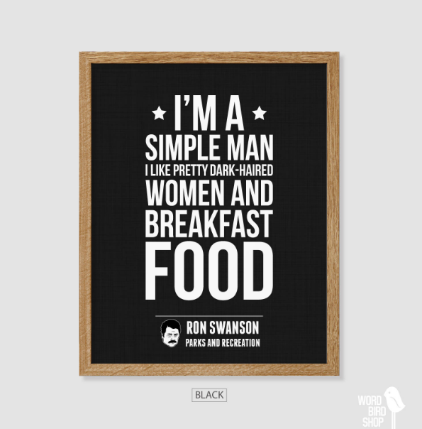 ron swanson quotes about food