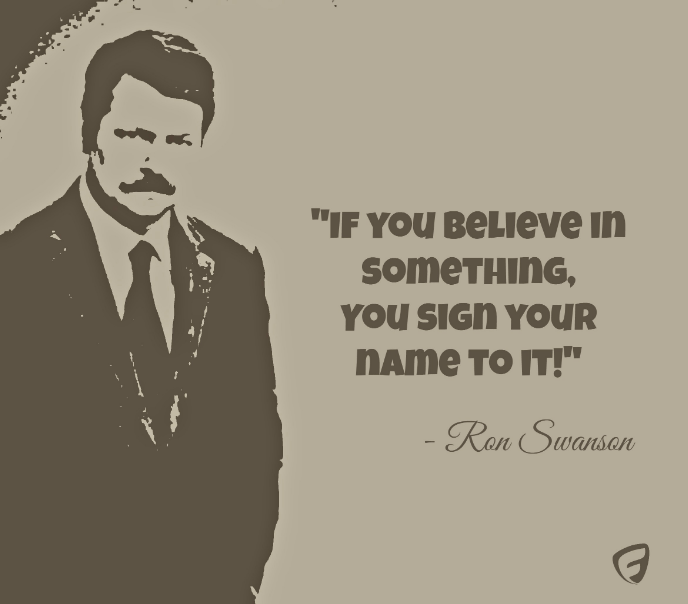ron swanson quotes food