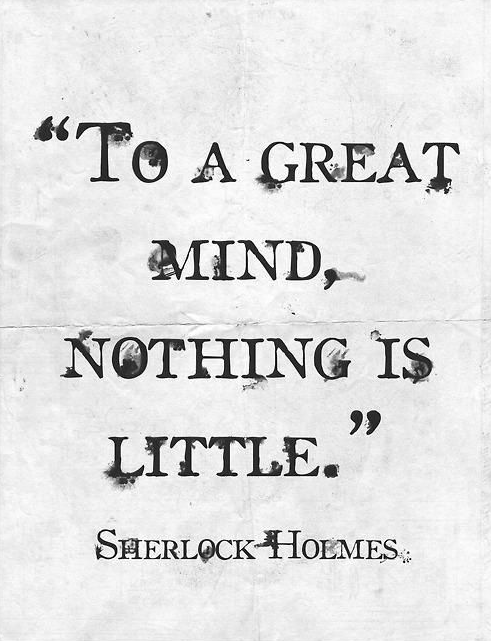 sherlock holmes quotes to watson