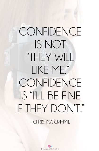 confident sayings