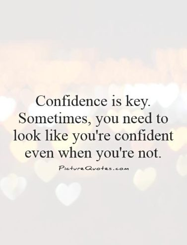 confidence proverbs