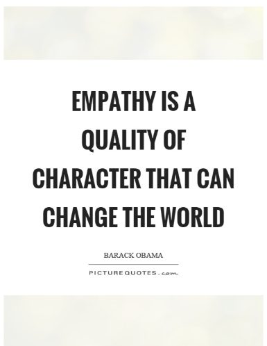showing empathy for others