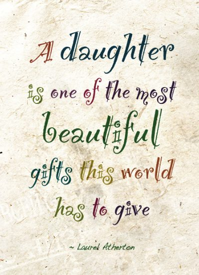 to my beautiful daughter