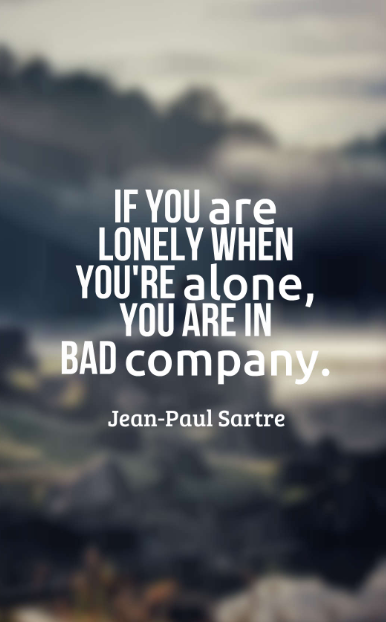 it's better to be alone
