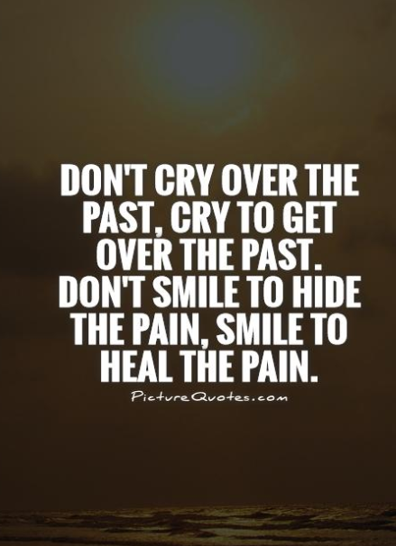 only throught the pain