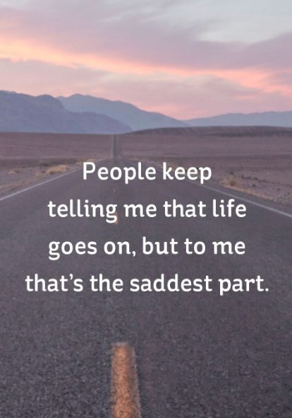 sad quote about life