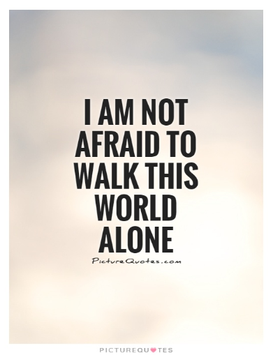 inspirational quotes being alone