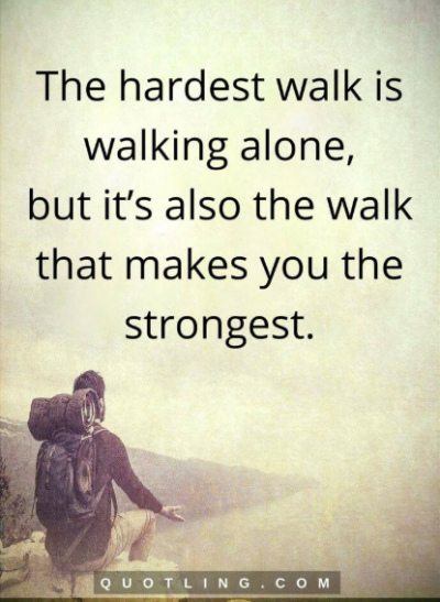 when you are alone quotes