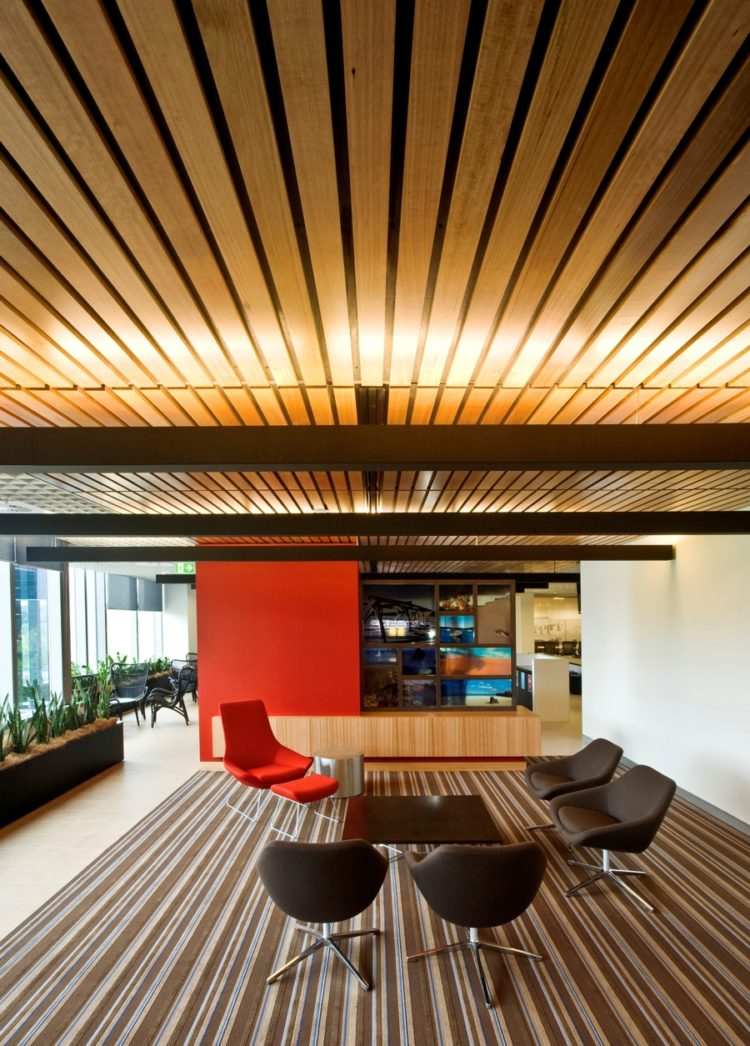 Slatted Wooden ceiling
