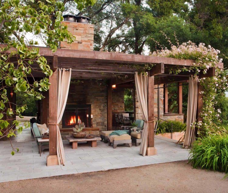 framing a outdoor fireplace 3