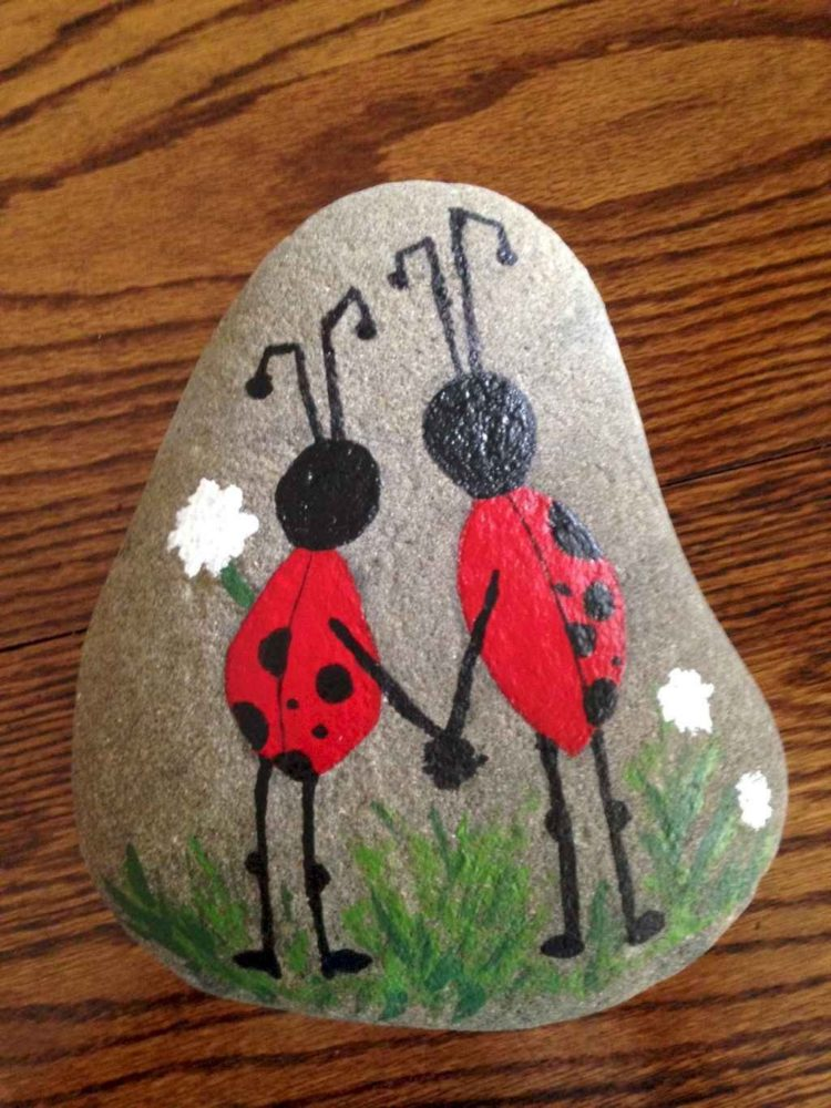 rock painting landscape