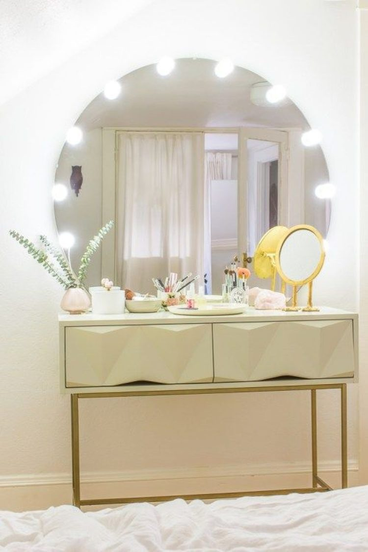 vanity mirror dresser with lights