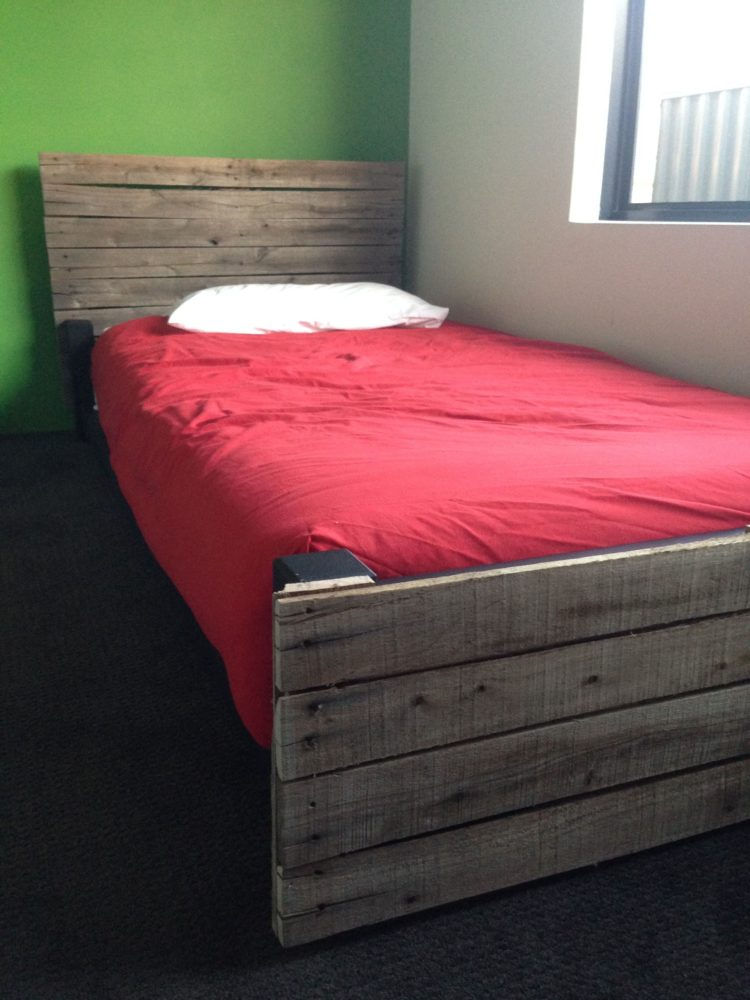 twin bed frame drawers