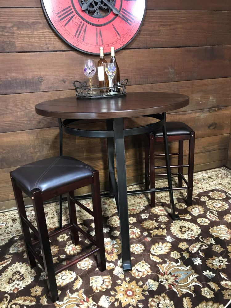 bar table legs diy