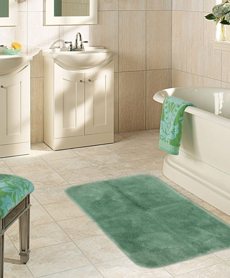 bath rugs gray