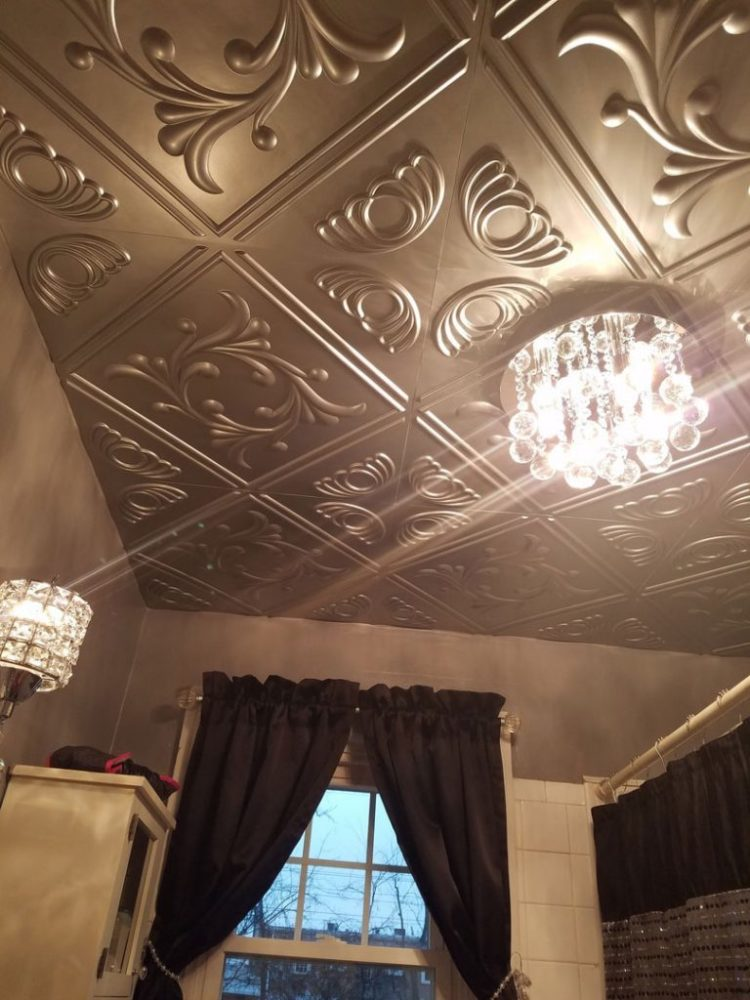 installation of tin ceiling tiles