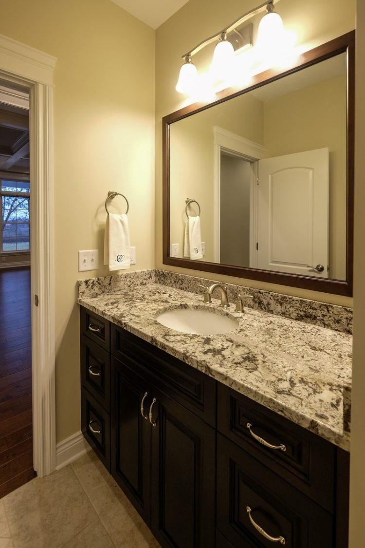 bathroom countertops light gray