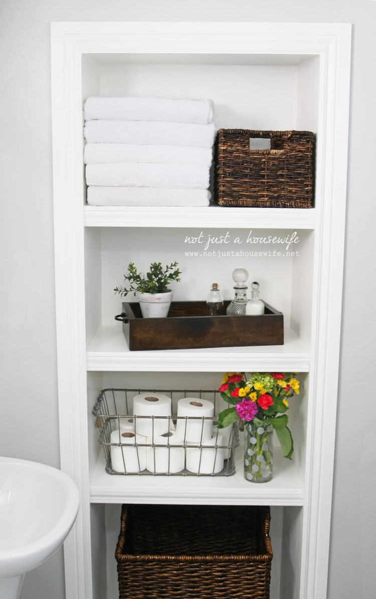 3 tier bathroom wall shelves