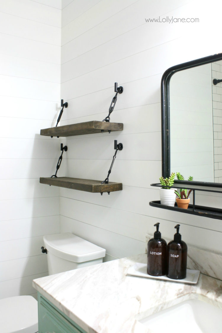 3 tier glass bathroom shelves