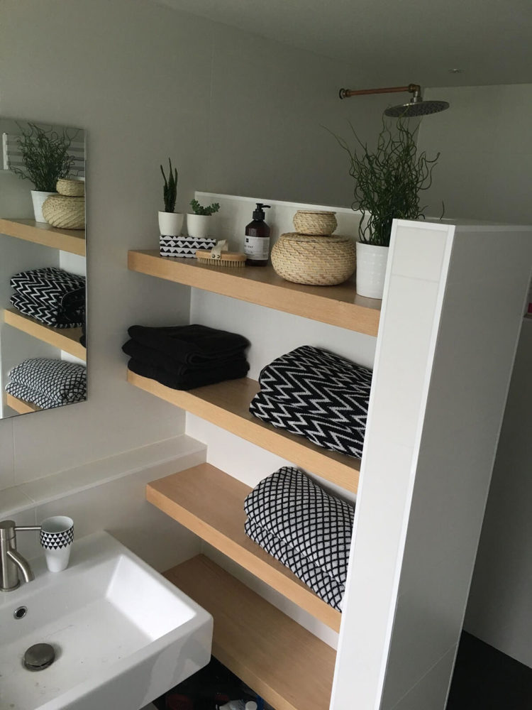18 bathroom shelves