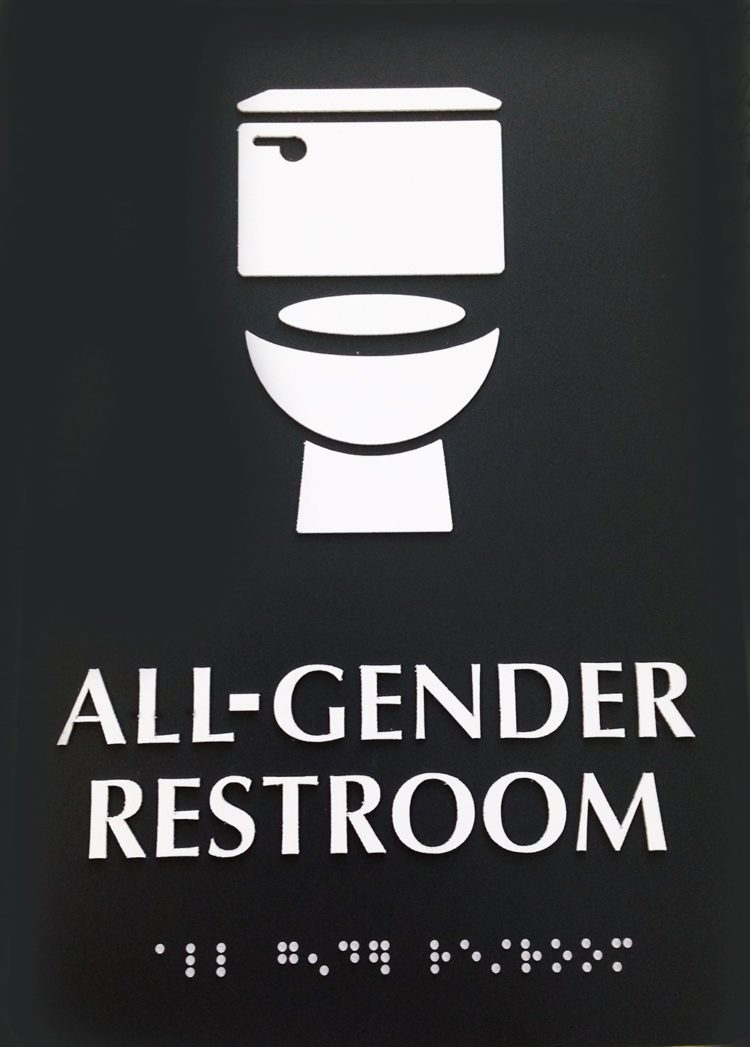 bathroom signs modern