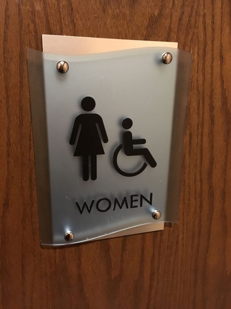 bathroom signs next