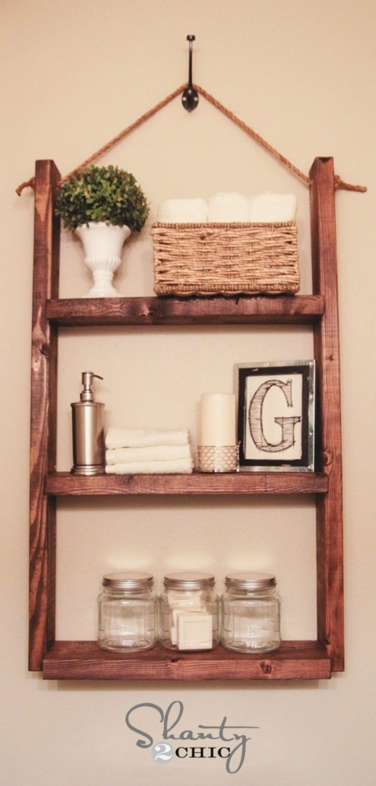bathroom shelves glass gold