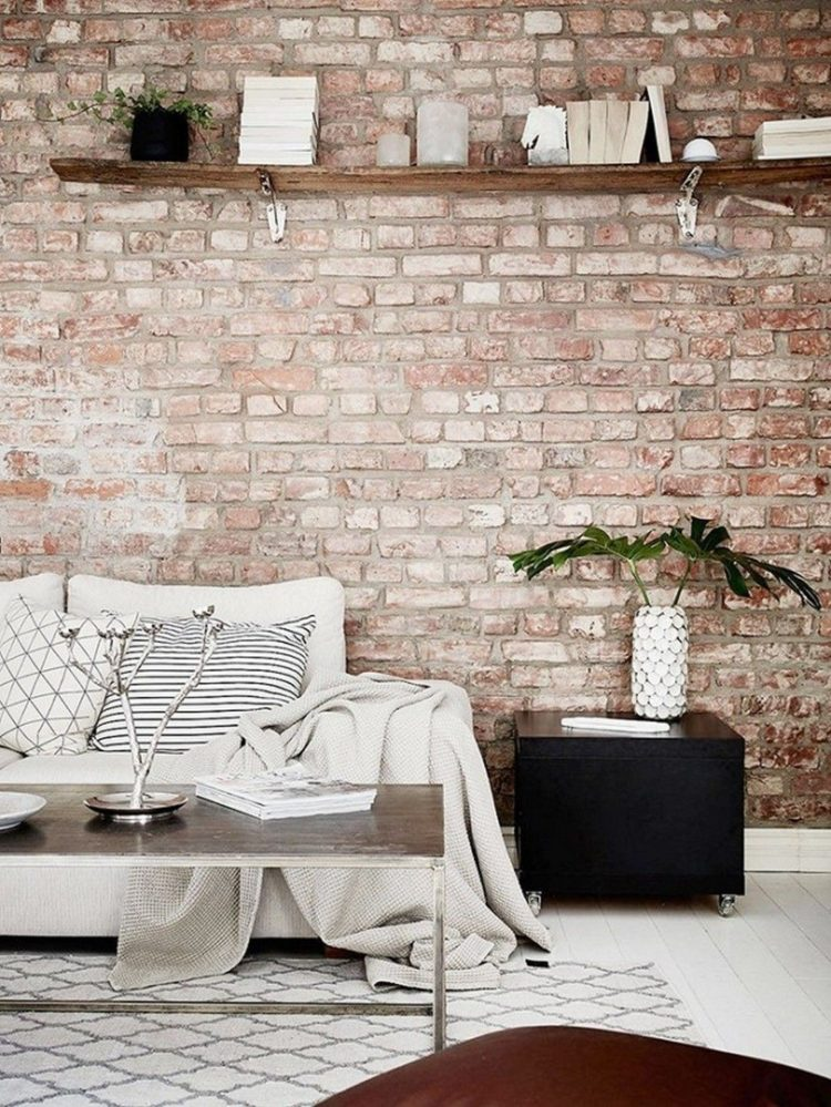 b & q brick wallpaper