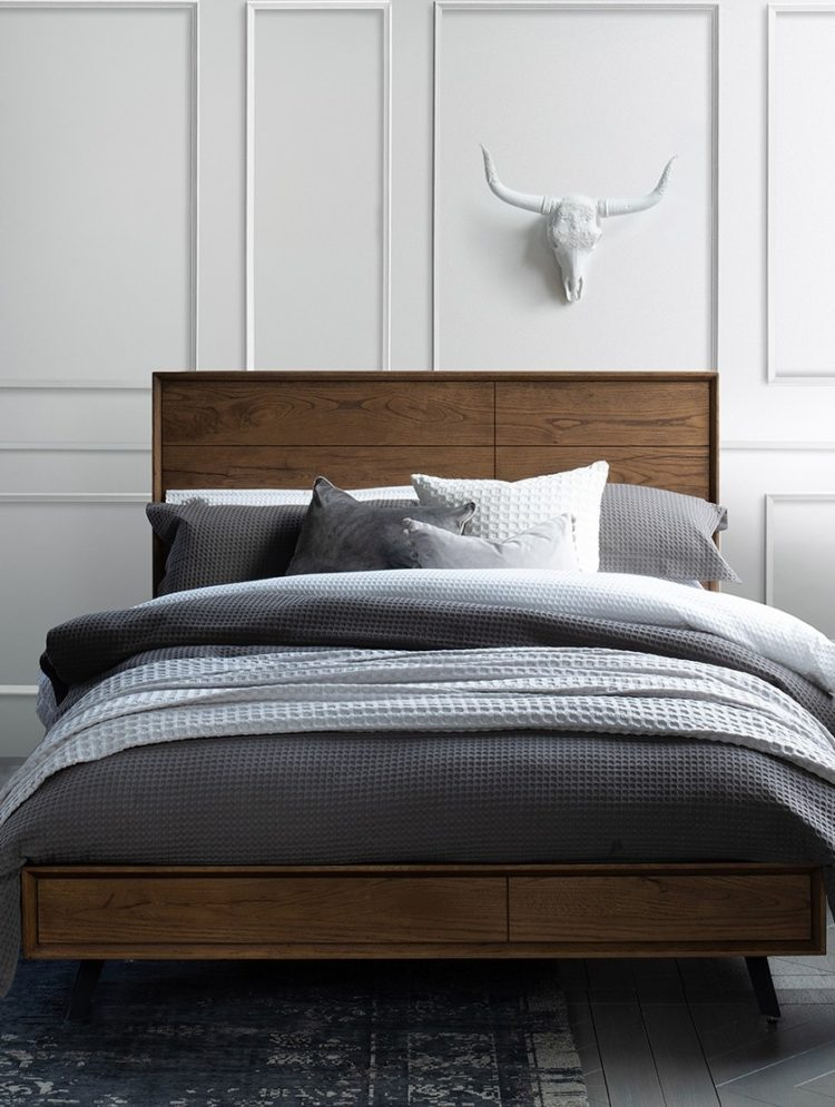 king size bed frame for small room
