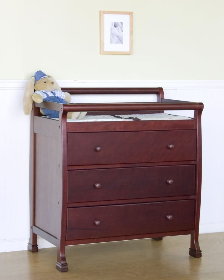 changing table brown