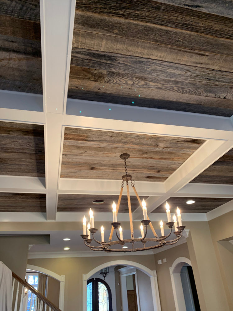 installing a coffered ceiling