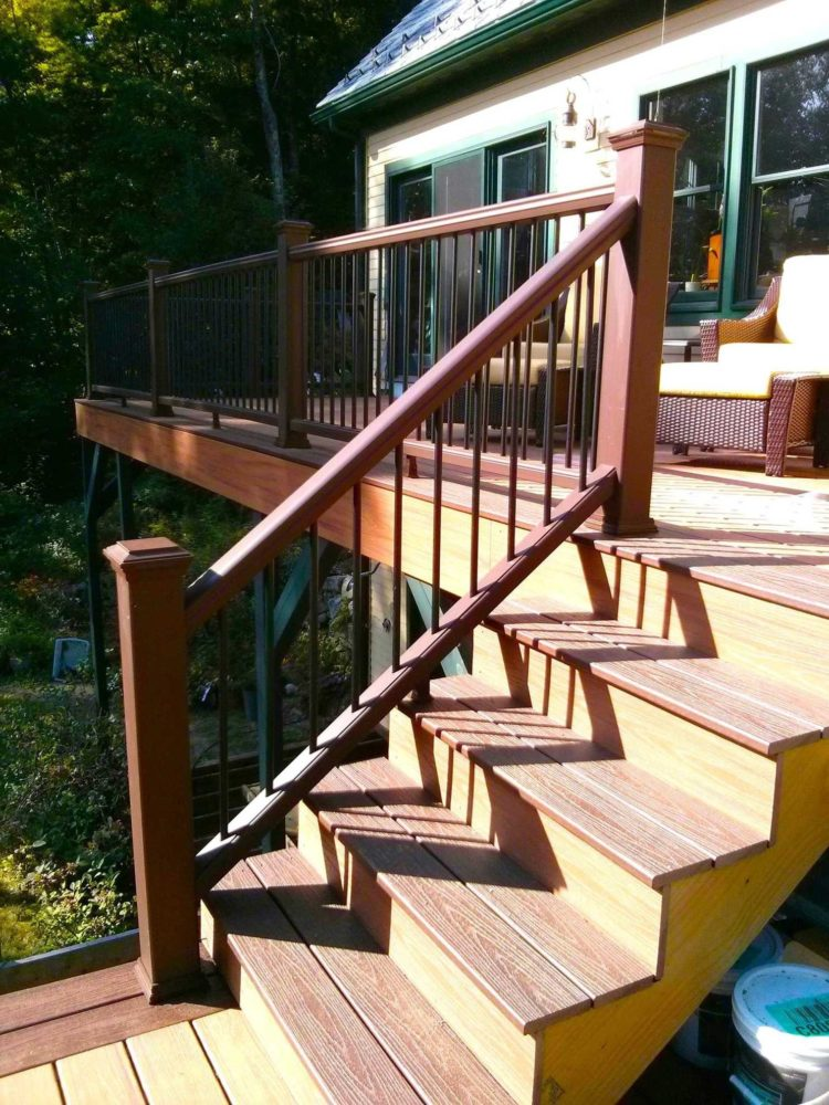 ground level deck railing ideas