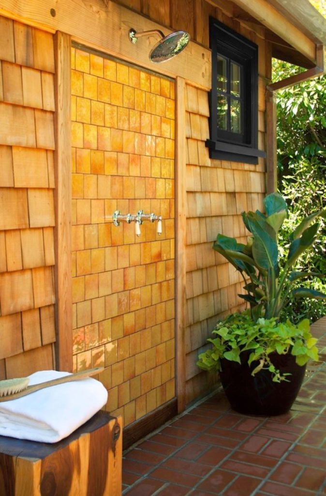 building an outdoor shower free