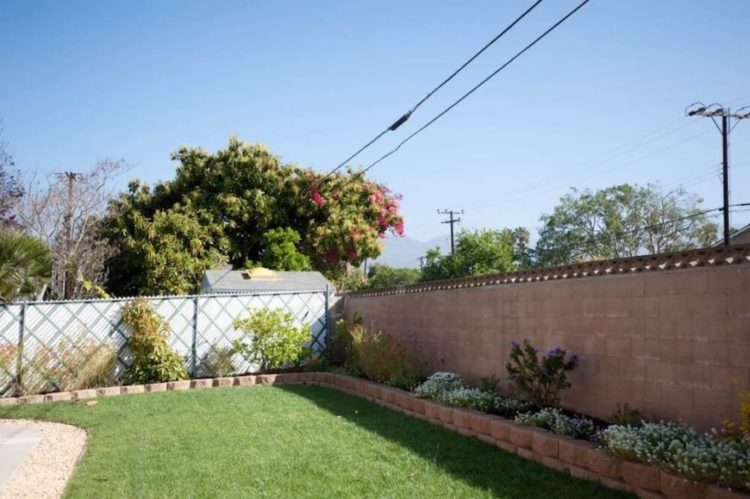 chain link fence edging