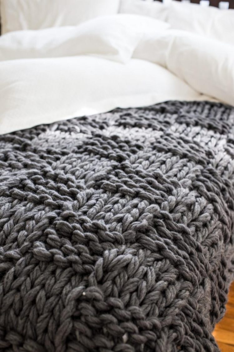 chunky knit blanket groupon