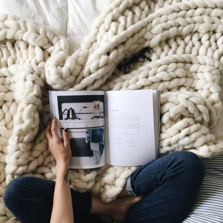 chunky knit blanket directions