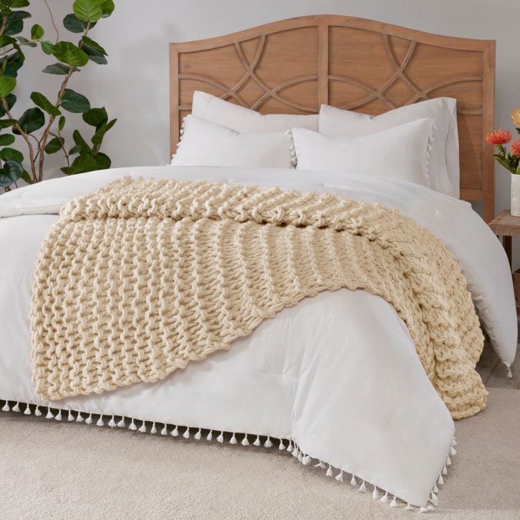 chunky knit blanket care