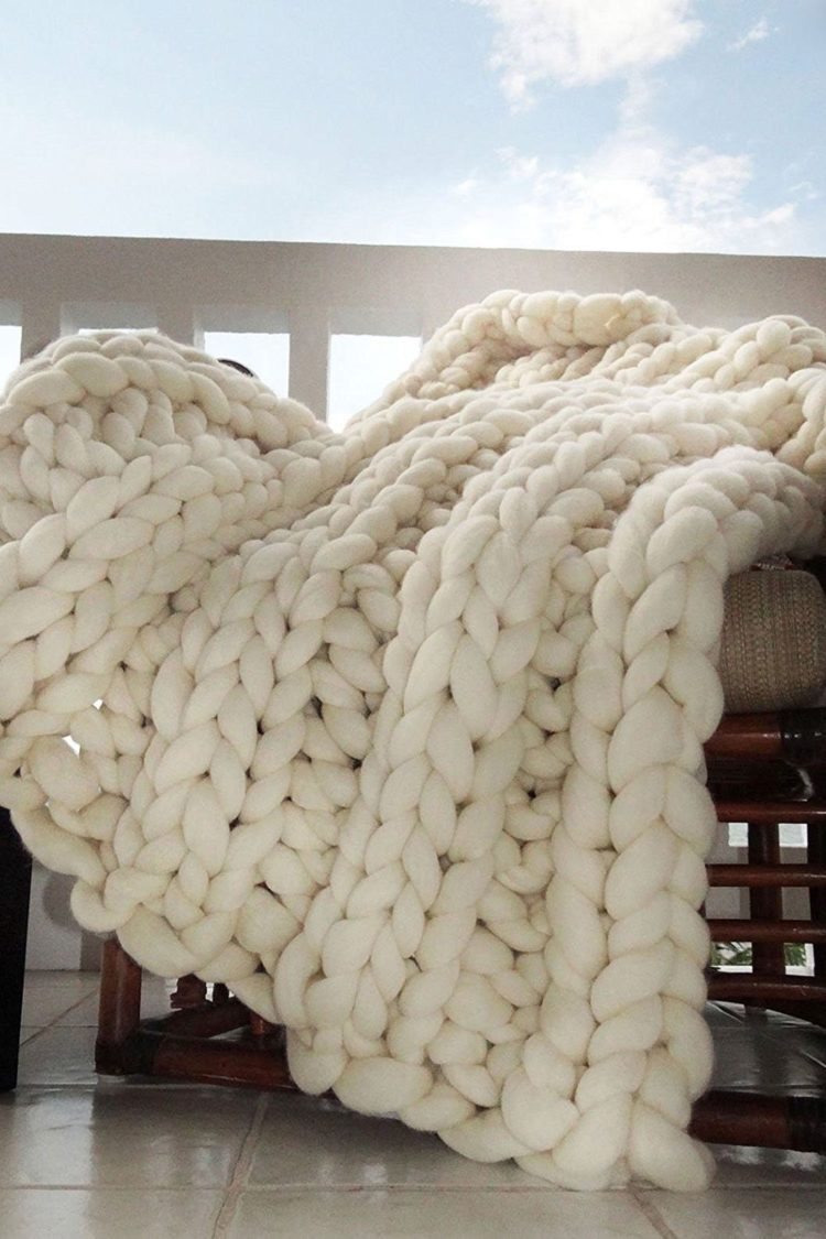 chunky knit blanket overstock