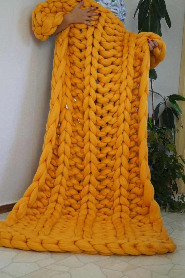 quick knit chunky blanket pattern