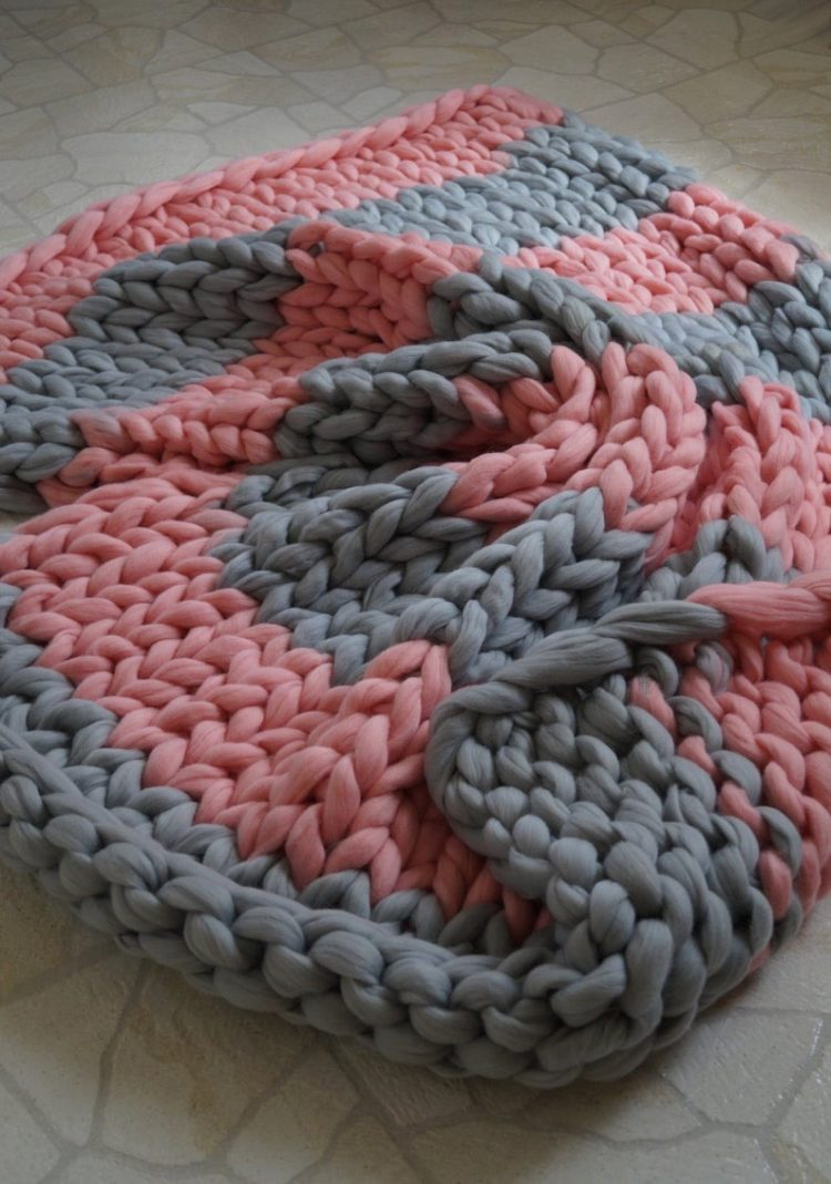 quick knit chunky blanket