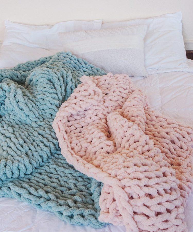 chunky knit blanket home bargains