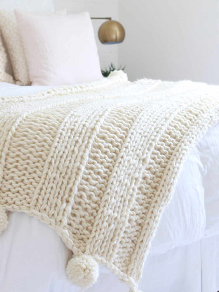 chunky knitted blanket gift