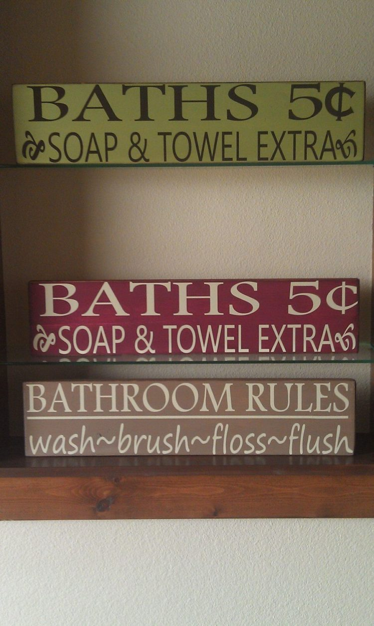 bathroom signs for sale