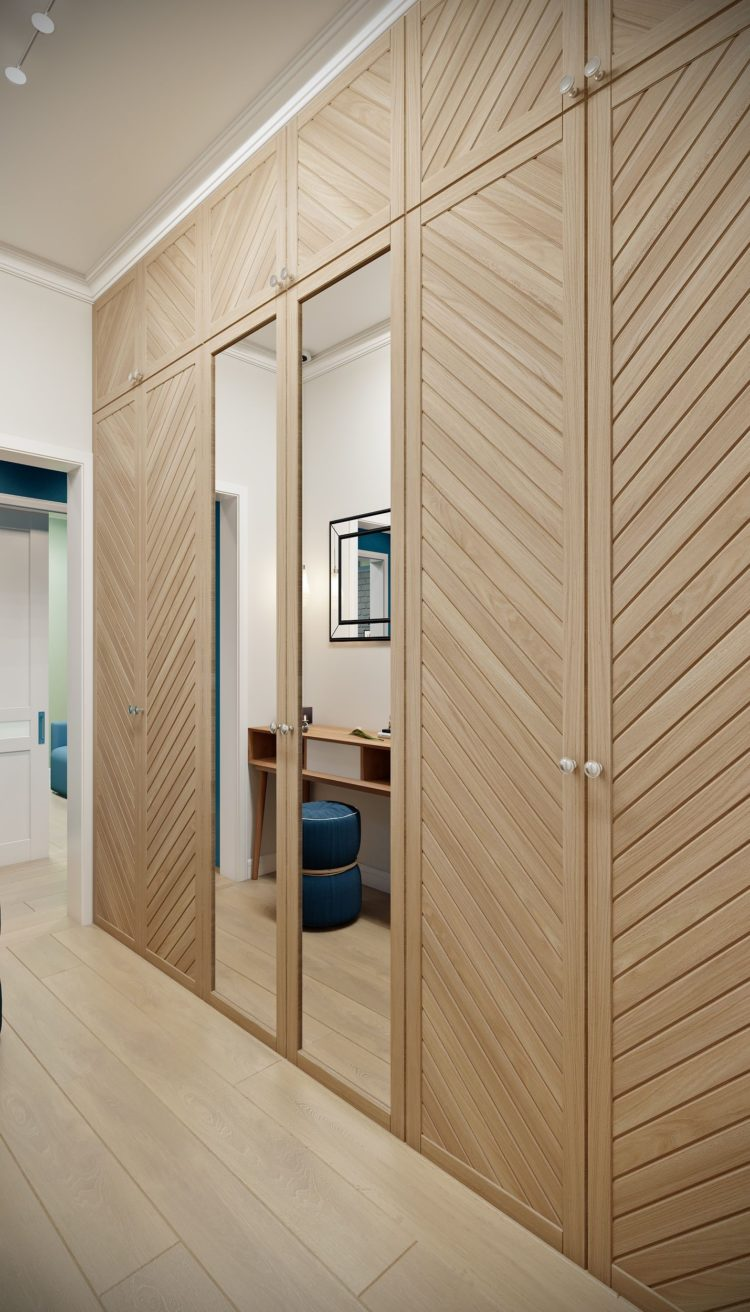 l shaped closet doors